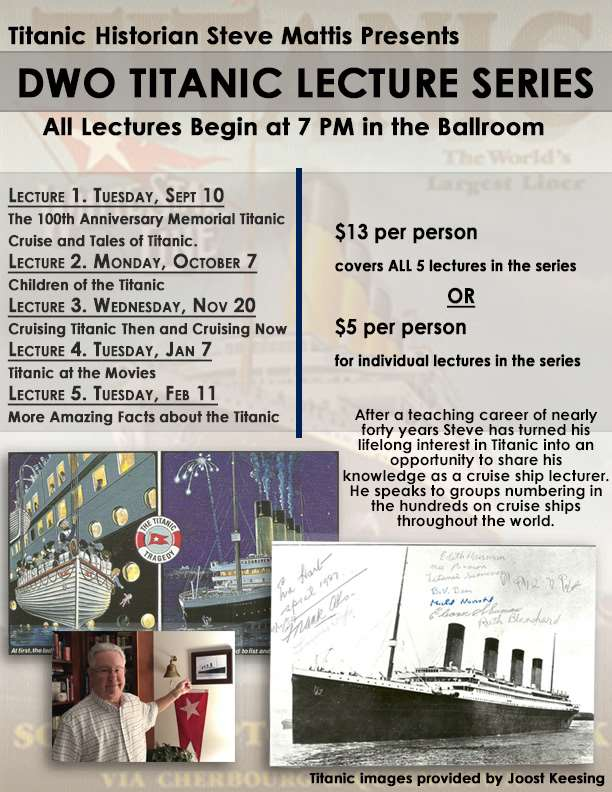 Titanic Lecture Series Fl Page